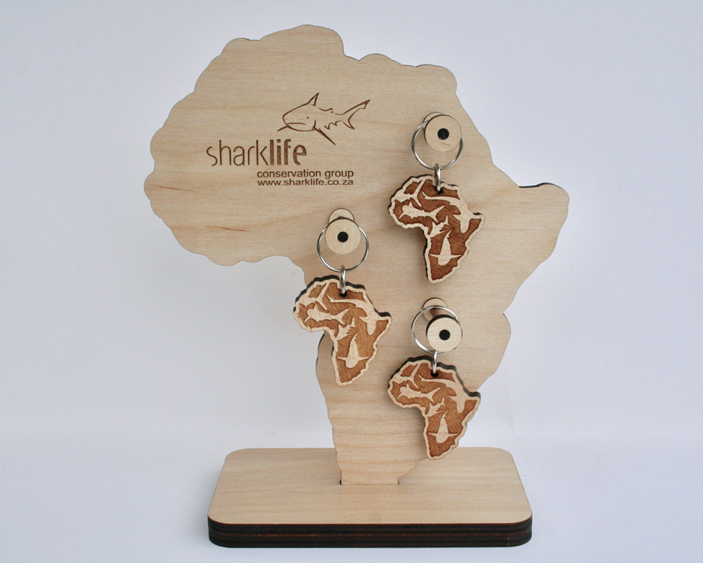 Eco-friendly Wooden Africa Souvenir Key Chains