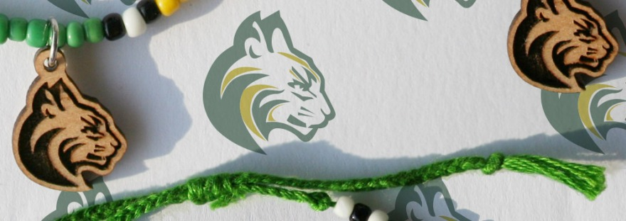 Bobcat Mascot Charm Bracelet for Team Fundraiser