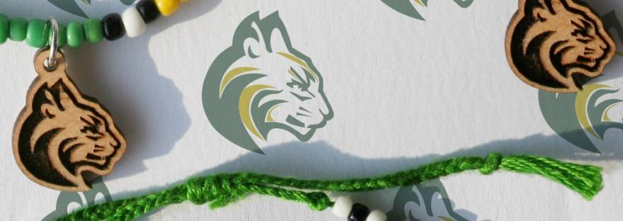 Bobcat Mascot Charm Bracelet for Team Fundraiser