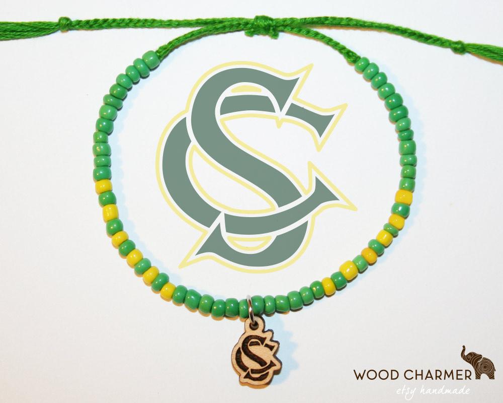 Hand-beaded Fair Trade Varsity Charm Bracelet